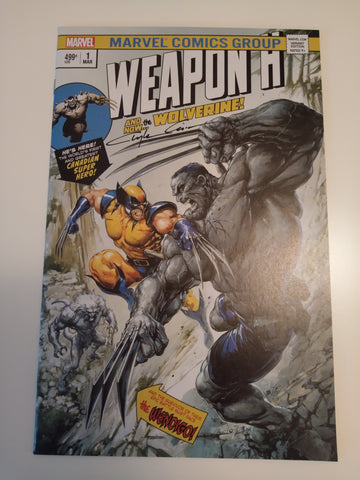 WEAPON H #1 CLAYTON CRAIN HULK 181 HOMAGE TRADE DRESS LIMITED TO 3000 SIGNED BY CLAYTON CRAIN