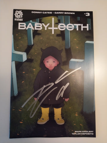 BABYTEETH #3 ELIZABETH TORQUE THE OMEN HOMAGE TRADE DRESS VARIANT SIGNED BY DONNY CATES