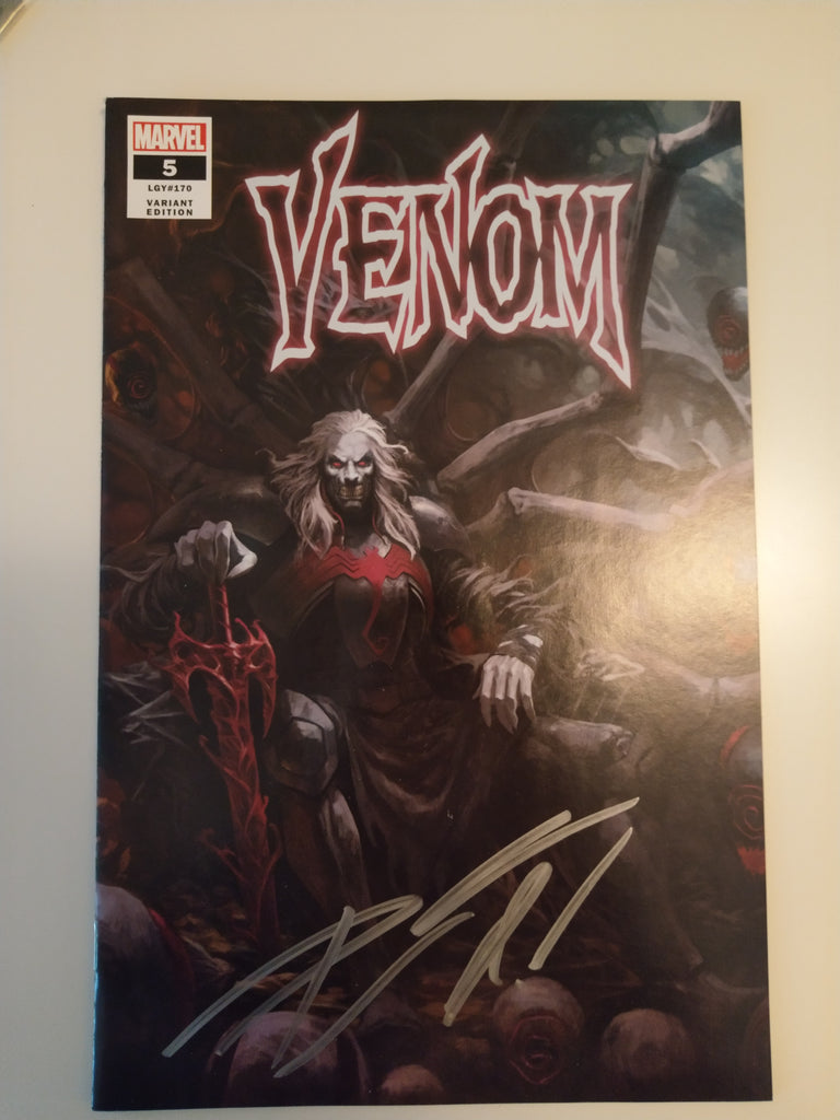 VENOM #5 SKAN SRISUWAN VARIANT '1ST COVER APP OF KNULL' TRADE DRESS LIMITED TO 3000 SIGNED BY DONNY CATES