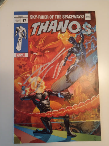 THANOS #17 J.G. JONES SILVER SURFER #4 HOMAGE TRADE DRESS LIMITED TO 3000 SOLD SIGNED BY DONNY CATES