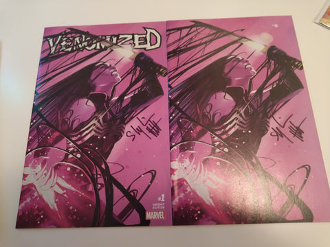 VENOMIZED #1 (OF 5) EXCLUSIVE STEPHANIE HANS VIRGIN SET C2E2 SIGNED