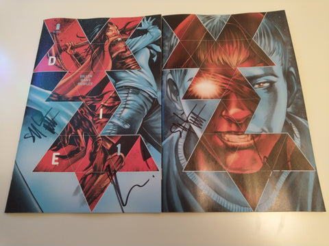 DIE #1 MIKE ROOTH TRADE/VIRGIN VARIANT SET LIMITED TO 250 SETS DOUBLE SIGNED BY GILLEN AND HANS
