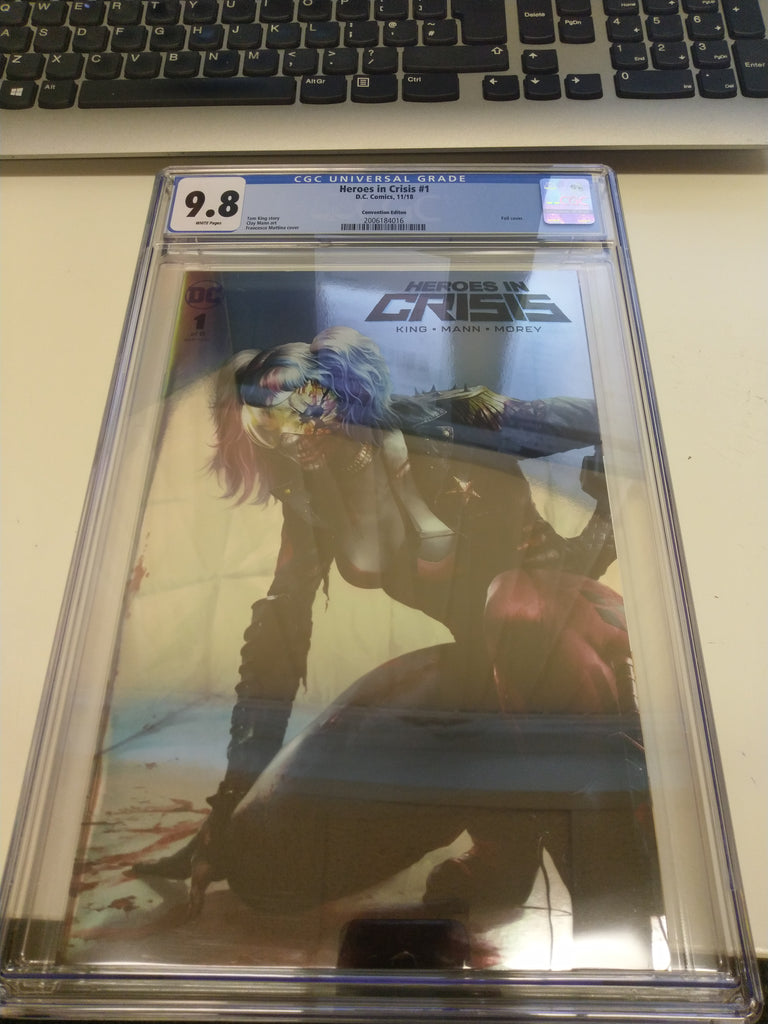 HEROES IN CRISIS #1 (OF 7) FRANCESCO MATTINA EXCLUSIVE FOIL VARIANT CGC 9.8