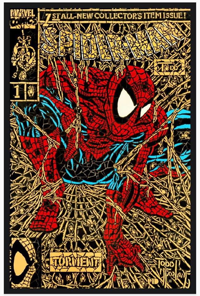 SPIDER-MAN #1 SHATTERED GOLD FACSIMILE VARIANT LIMITED TO 3000