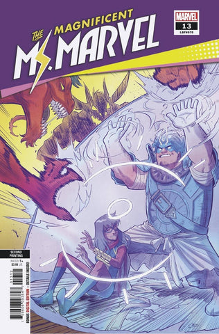 MAGNIFICENT MS MARVEL #13 RARE 2ND PRINT VARIANT
