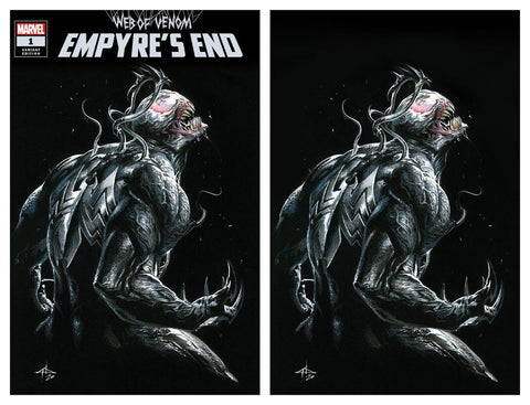 WEB OF VENOM EMPYRES END #1 GABRIELLE DELL'OTTO TRADE/VIRGIN VARIANT SET LIMITED TO 700 SETS WITH COA