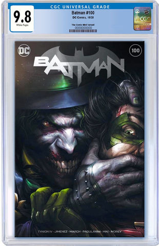 BATMAN #100 FRANCESCO MATTINA TRADE DRESS VARIANT LIMITED TO 2500 CGC 9.8 PREORDER
