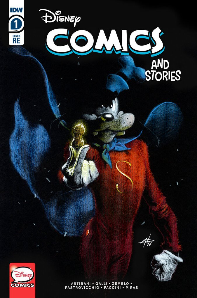 DISNEY COMICS AND STORIES #1 GABRIELE DELL'OTTO GOOFY TRADE DRESS VARIANT LIMITED TO 2000 WITH COA