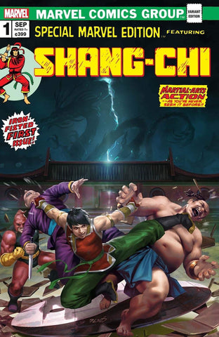 SHANG-CHI #1 DERRICK CHEW HOMAGE VARIANT LIMITED TO 1000 COPIES WITH NUMBERED COA
