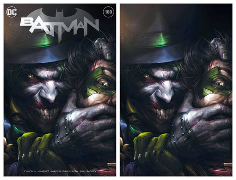 BATMAN #100 FRANCESCO MATTINA TRADE/VIRGIN VARIANT SET LIMITED TO 1500 SETS