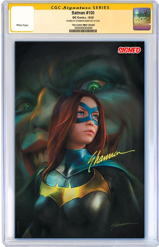 BATMAN #100 SHANNON MAER VIRGIN VARIANT LIMITED TO 600 WITH COA CGC SS PREORDER