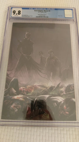 DARK NIGHTS METAL #4 FRANCESCO MATTINA VIRGIN VARIANT LIMITED TO 600 CGC 9.8