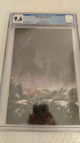 DARK NIGHTS METAL #4 FRANCESCO MATTINA VIRGIN VARIANT LIMITED TO 600 CGC 9.6