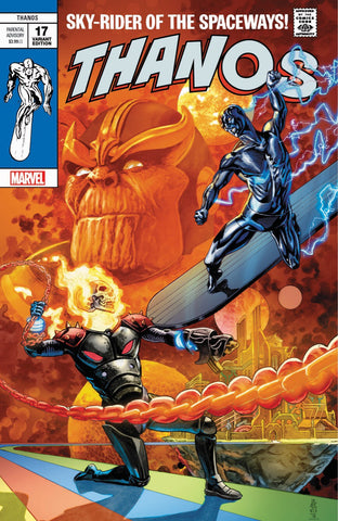 THANOS #17 J.G. JONES SILVER SURFER #4 HOMAGE TRADE DRESS LIMITED TO 3000 SOLD WORLDWIDE - 1ST COVER APP OF SILVER SURFER BLACK