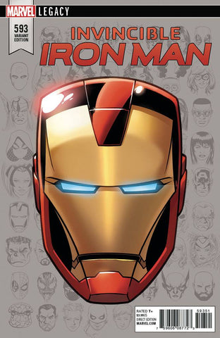 INVINCIBLE IRON MAN #593 MIKE MCKONE 1:10 LEGACY HEADSHOT VARIANT
