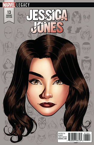 JESSICA JONES #13 MIKE MCKONE 1:10 LEGACY HEADSHOT VARIANT