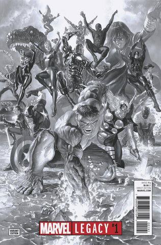 MARVEL LEGACY #1 ALEX ROSS 1:100 BW VARIANT
