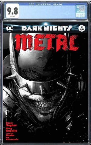DARK NIGHTS METAL #3 FRANCESCO MATTINA B&W VARIANT LIMITED TO 1500 GUARANTEED CGC 9.8 PREORDER