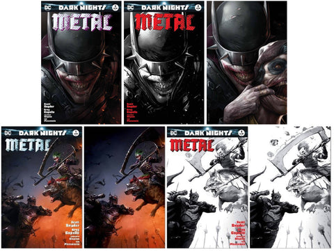 DARK NIGHTS METAL #1 & #3 FRANCESCO MATTINA COMPLETE VARIANT SET