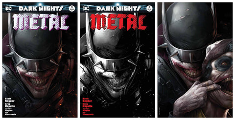 DARK NIGHTS METAL #3 FRANCESCO MATTINA VIRGINVARIANT SET LIMITED TO 3000/1500/600