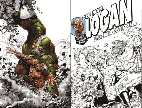OLD MAN LOGAN #25 VARIANT SETS BW COLOUR SPLASH, HOMAGE SKETCH LIMITED TO 1000 EACH