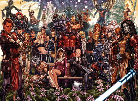 31/07/2019 POWERS OF X #1 1:500 & HOUSE OF X #1 1:500 MARK BROOKS VIRGIN CONNECTING SET