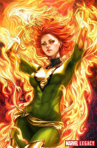 PHOENIX RESURRECTION RETURN JEAN GREY #1 (OF 5) 1:100 ARTGERM GREEN VIRGIN VARIANT