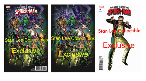 PETER PARKER SPECTACTULAR SPIDERMAN #6 J SCOTT CAMPBELL SUPERNOVA COMIC CON VARIANT SET