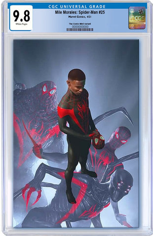 MILES MORALES SPIDER-MAN #25 RAHZZAH ULTIMATE FALLOUT 4 HOMAGE VIRGIN VARIANT LIMITED TO 1000 CGC 9.8 PREORDER