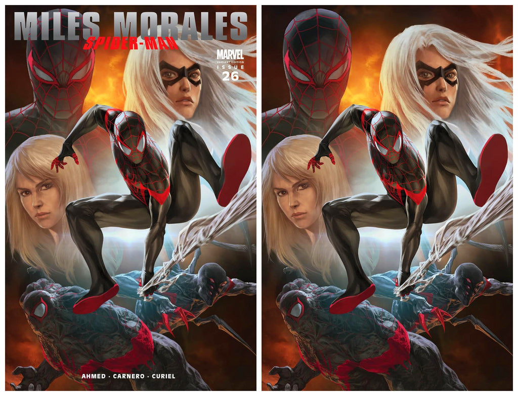 MILES MORALES SPIDER-MAN #26 SKAN ULTIMATE FALLOUT 4 DJURDJEVIC HOMAGE TRADE/VIRGIN VARIANT SET LIMITED TO 1000 SETS