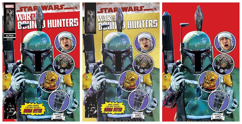 STAR WARS WAR BOUNTY HUNTERS ALPHA #1 MIKE MAYHEW RED TRADE/GOLD TRADE DRESS/RED VIRGIN VARIANT SET LIMITED TO 1000 SETS