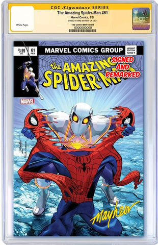 AMAZING SPIDER-MAN #61 MIKE MAYHEW ASM 238 HOMAGE VARIANT LIMITED TO 800 WITH NUMBERED COA CGC REMARK PREORDER