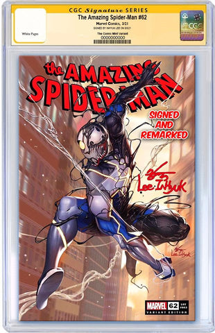 AMAZING SPIDER-MAN #62 INHYUK LEE VARIANT LIMITED TO 800 WITH COA CGC REMARK PREORDER