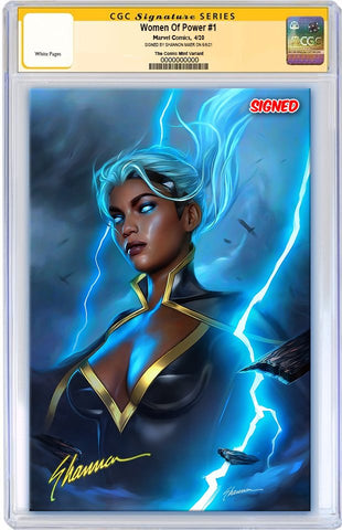 WOMEN OF MARVEL #1 SHANNON MAER VIRGIN VARIANT LIMITED TO 600 WITH NUMBERED COA CGC SS PREORDER
