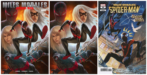 MILES MORALES SPIDER-MAN #26 SKAN ULTIMATE FALLOUT 4 DJURDJEVIC HOMAGE TRADE/VIRGIN VARIANT SET LIMITED TO 1000 SETS & 1:25 VICENTINI