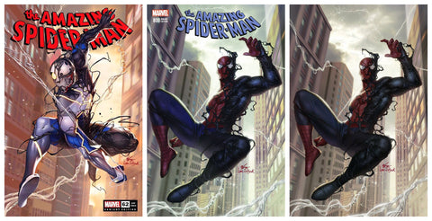 AMAZING SPIDER-MAN #62 INHYUK LEE VARIANT LIMITED TO 800 WITH COA & ASM 800 INHYUK LEE TRADE/VIRGIN SET