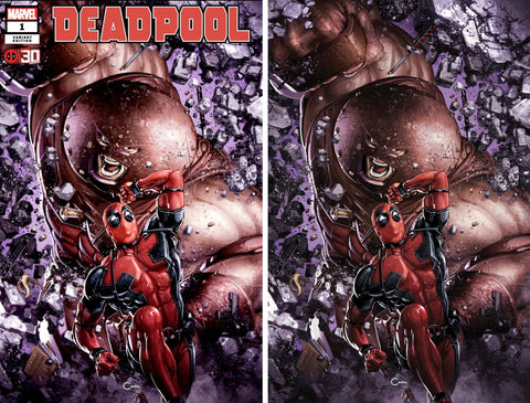 DEADPOOL NERDY 30 #1 CLAYTON CRAIN EXCLUSIVE TRADE/VIRGIN VARIANT SET