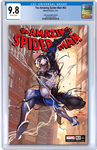 AMAZING SPIDER-MAN #62 INHYUK LEE VARIANT LIMITED TO 800 WITH COA CGC 9.8 PREORDER