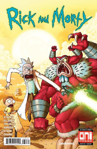 RICK & MORTY #36 EXCLUSIVE MIKE VASQUEZ HULK 181 HOMAGE LIMITED TO 1000 COPIES