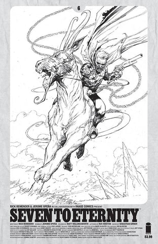 SEVEN TO ETERNITY #6 SPAWN B&W VARIANT