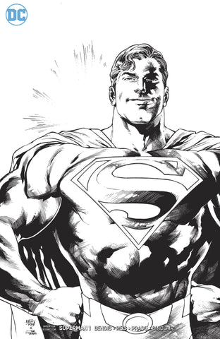 SUPERMAN #1 1:100 B&W VARIANT
