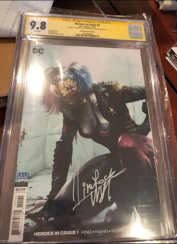 HEROES IN CRISIS #1 (OF 7) 1:200 FRANCESCO MATTINA VARIANT CGC SS 9.8 SIGNED BY MATTINA