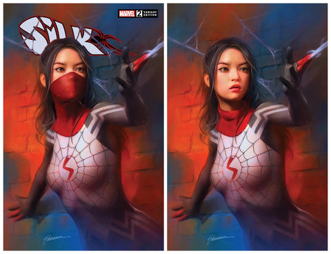 SILK #2 SHANNON MAER MASKED TRADE/UNMASKED VIRGIN VARIANT SET LIMITED TO 1000 SETS
