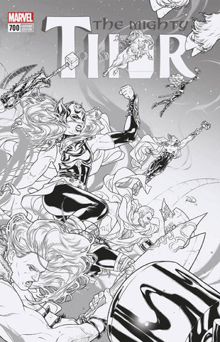 MIGHTY THOR #700 RUSSELL DAUTERMAN 1:100 B&W VARIANT LEGACY