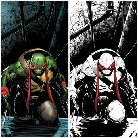 TEENAGE MUTANT NINJA TURTLES #75 HUMBERTO RAMOS VARIANT SET VIRGIN COLOUR & BW LIMITED TO 500/250