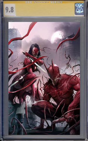 EDGE OF VENOMVERSE #1 EXCLUSIVE FRANCESCO MATTINA VARIANT SET COLOUR & GUARANTEED CGC 9.8 SS SIGNED BY MATTINA VIRGIN