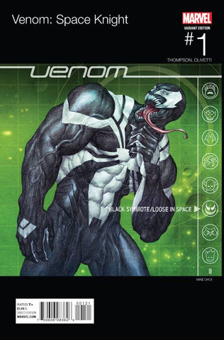 VENOM SPACE KNIGHT #1 CHOI HIP HOP VARIANT BLACK ELVIS HOMAGE