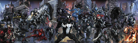 VENOMVERSE #1 TO 5 CLAYTON CRAIN VIRGIN CONNECTING VARIANT SET LIMITED TO 600
