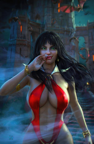 VAMPIRELLA DARK POWERS #1 TIAGO DA SILVA BATS & CASTLE VARIANT LIMITED TO 500