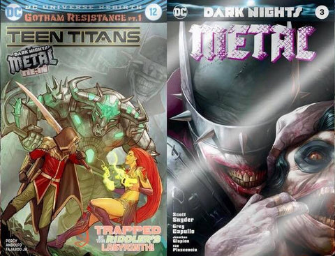 TEEN TITANS #12 & DARK KNIGHTS METAL #3 MATTINA SPECIAL FOIL VARIANT SET EACH LIMITED TO 3000 COPIES WORLDWIDE